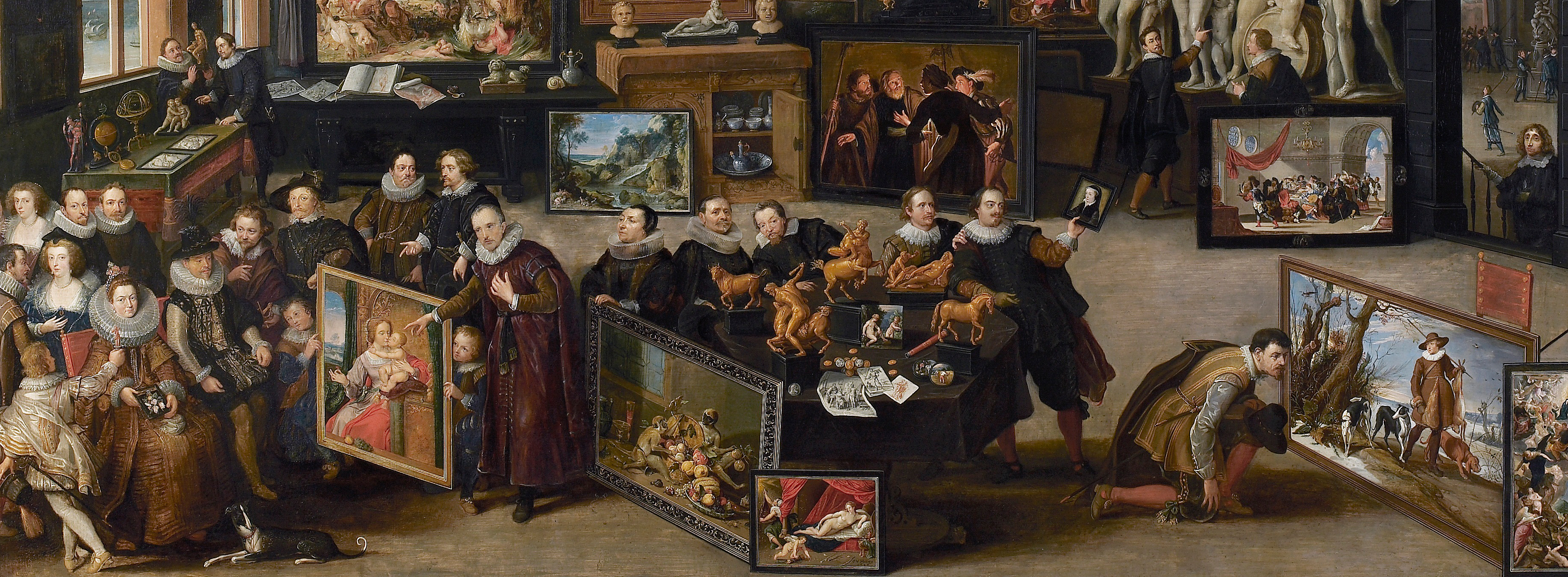 Willem van Haecht I, The gallery of Cornelis van der Geest (detail), The Rubens House.