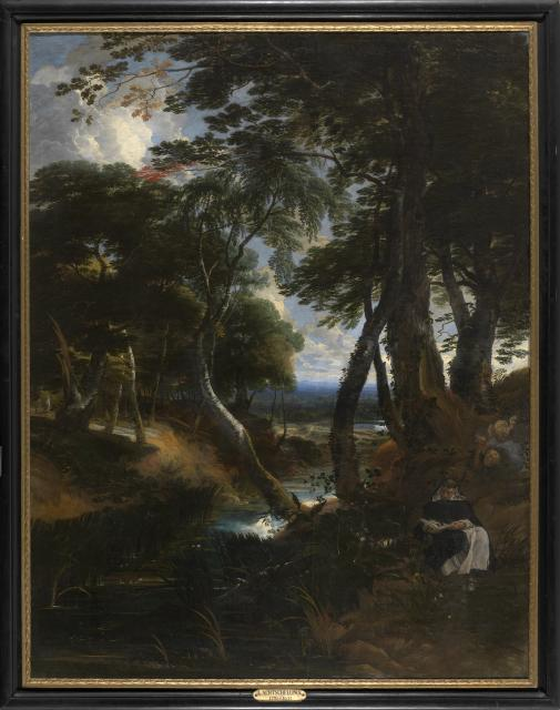 Wooded Landscape with Saint Dominic