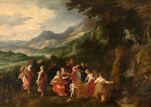 Minerva Visits the Muses
