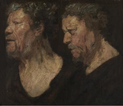 Jacob Jordaens I, Studies of the head of Abraham Grapheus, Museum of Fine Arts, Ghent