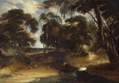 Wooded Landscape with Ford
