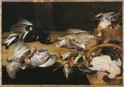 Still life with dead birds